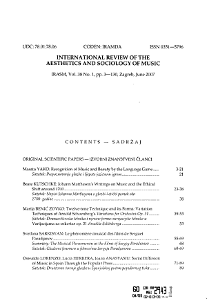 International Review of the Aesthetics and Sociology of Music PDF