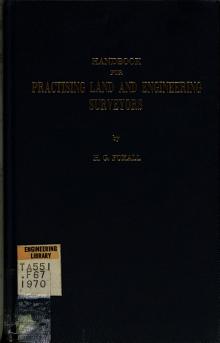 Handbook for Practising Land and Engineering Surveyors PDF