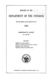 Annual reports of the Department of the Interior ... [with accompanying documents]: Volume 1
