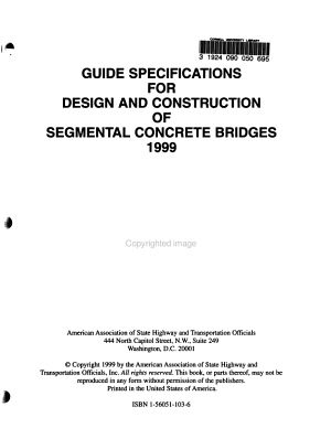 Guide Specifications for Design and Construction of Segmental Concrete Bridges 1999 PDF