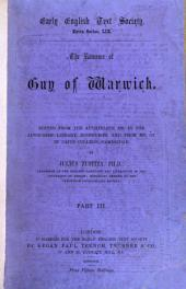 The Romance of Guy of Warwick: The First Or 14th-century Version, Issue 59