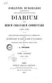 Diarum sine rerum urbanarum commentarii: 1483-1506