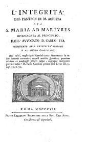 L'integrita del Panteon di Marco Agrippa, ora Santa Maria ad martyres, rivendicata al Principato