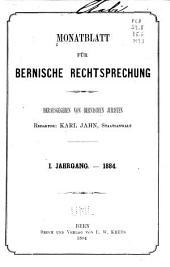 Monatsblatt für bernische rechtsprechung ...: Revue mensuelle de jurisprudence bernoise, Band 1