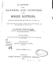 An Account of the Manners and Customs of the Modern Egyptians PDF