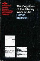 Cognition of the Literary Work of Art PDF
