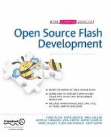 The Essential Guide to Open Source Flash Development PDF