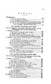 Handbuch der Physiologie des Menschen für Vorlesungen: Band 1,Ausgabe 2