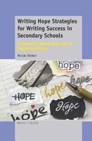 Writing Hope Strategies for Writing Success in Secondary Schools PDF