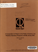 A Compendium of Papers in the Fields of Geodesy and Planetary Geometry Prepared at AFCRL During 1962 PDF