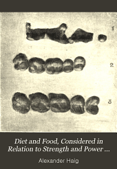 Diet and food, considered in relation to strength and power of endurance, training and athletics
