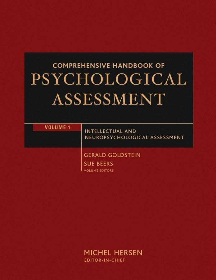 Comprehensive Handbook of Psychological Assessment, Volume 1