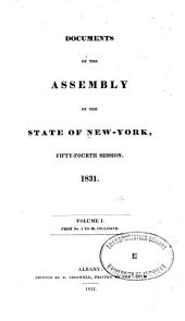Documents of the Assembly of the State of New York: Volume 54, Issues 1-2