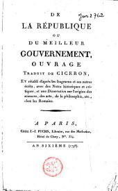 De la république, ou Du meilleur gouvernement