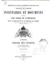 Layettes du trésor des chartes: Volume2