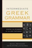 Intermediate Greek Grammar PDF