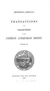 Archaelogia Americana: Volume 3