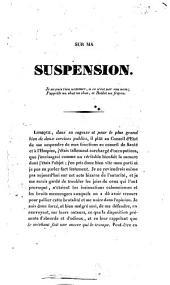 Sur ma suspension