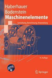 Maschinenelemente: Gestaltung, Berechnung, Anwendung, Ausgabe 14