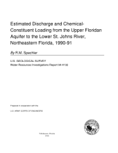 Estimated Discharge and Chemical-Constituent Loading from the Upper Floridan Aquifer to the Lower St. Johns River, Northeastern Florida, 1990-91