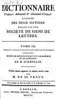 Dictionnaire fran  ois allemand et allemand fran  ois PDF
