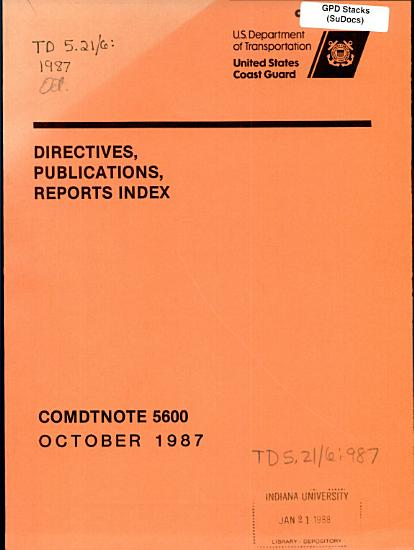 Directives  publications  reports index PDF