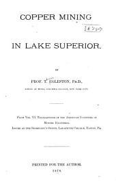 Copper Mining in Lake Superior