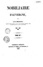 Nobiliaire d'Auvergne: Volume1