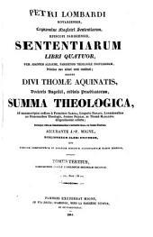 Petri Lombardi Sententiarum libri quatuor: Volume 3