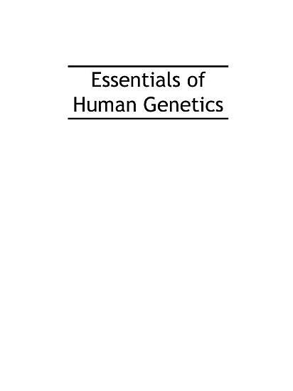Essentials Of Human Genetics Fifth Edition PDF