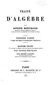 Traité d'algèbre: Volumes1à2