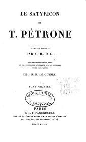 Le Satyricon de T. Pétrone: Volume1
