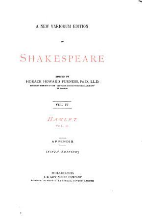 A New Variorum Edition of Shakespeare  Hamlet  1877 PDF