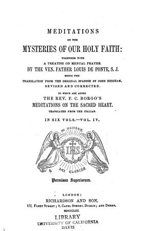 Meditations on the Mysteries of Our Holy Faith PDF