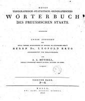 Neues topographisch-Stattisch-Geographisches Wörterbuch des Preussischen Staats