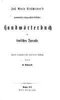 Grammatisch orthographisch stilistisches Handw  rterbuch der deutschen Sprache PDF