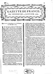 Gazette de France: journal politique. 1765