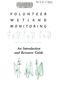 Volunteer Wetland Monitoring PDF