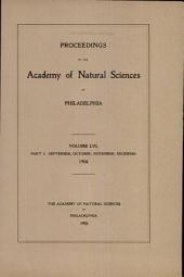Proceedings of The Academy of Natural Sciences (Vol. LVI, Part III -- Sept., Oct., Nov., Dec., 1904)