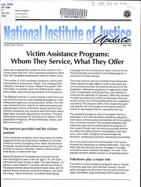 Victim Assistance Programs