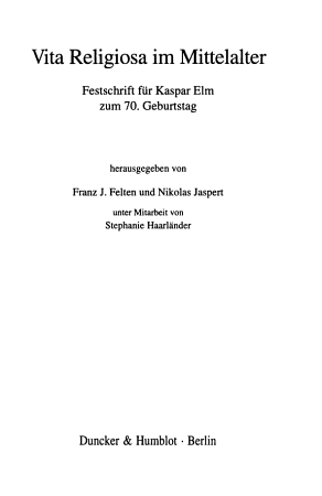 Vita religiosa im Mittelalter PDF