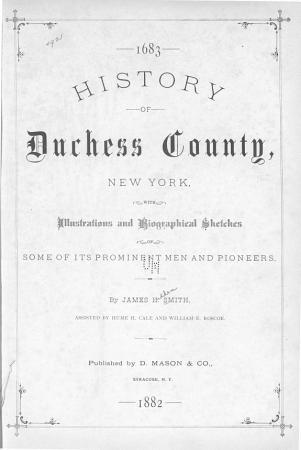 History of Duchess County  New York PDF