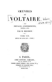 Œuvres de Voltaire: Volume19