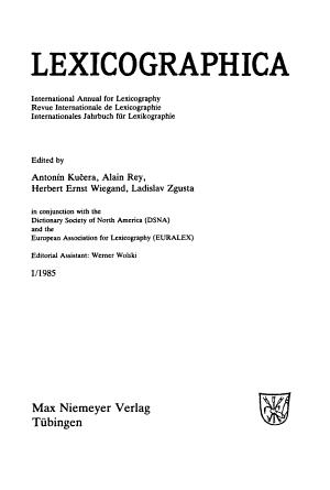 Lexicographica PDF
