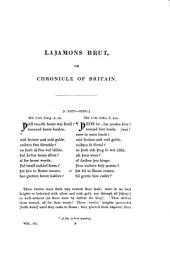 Lazamons Brut; Or, Chronicles of Britain: A Poetical Semi-Saxon Paraphrase of the Brut of Wace, Volume 3