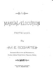 A Manual of Elocution: Parts I and II, Part 1