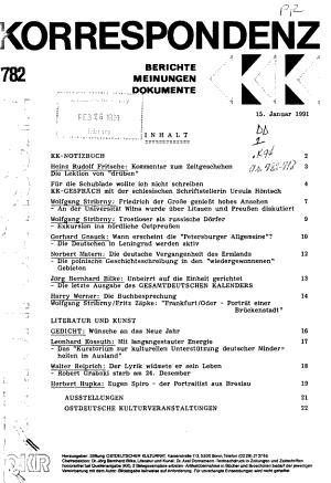 Kulturpolitische Korrespondenz PDF