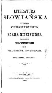 Literatura słowiańska wykładana w Kolegium francuzkiem: Tom 3