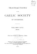 Transactions of the Gaelic Society of Inverness: Volume 17