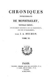 Collection des chroniques nationales franc̜aises: écrites en langue vulgaire du treizième au seizième siècle, avec notes et éclaircissements, Volume36